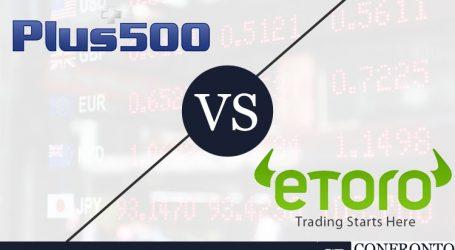 Plus500 VS eToro: quale scegliere tra i due e perché?